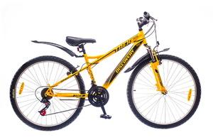 "Велосипеды Discovery, Велосипед Discovery TREK Vbr 14G 26"" рама-18"" St желто-серо-черный"