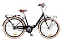 """Велосипед Dorozhnik LUX PLANETARY HUB 14G 26"""" черный с корзиной 2018"""