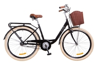 """Велосипед Dorozhnik LUX 14G 26"""" черный с корзиной 2018"""
