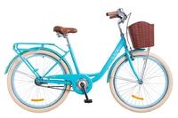 "Велосипед Dorozhnik LUX 14G 26"" голубой с корзиной 2018"