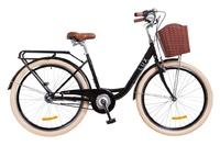 """Велосипед Dorozhnik LUX PLANETARY HUB 14G 26"""" черный с багажником 2018"""