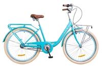 "Велосипед Dorozhnik LUX PLANETARY HUB 14G 26"" голубой с корзиной 2018"