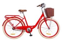 """Велосипед Dorozhnik LUX PLANETARY HUB 14G 26"""" красный с корзиной 2018"""