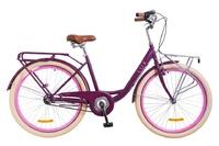"Велосипед Dorozhnik LUX PLANETARY HUB 14G 26"" сливовый с корзиной 2018"