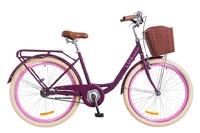 "Велосипед Dorozhnik LUX 14G 26"" сливовый c корзиной 2018"