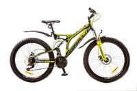 """Велосипеды Formula, Велосипед Formula OUTLANDER AM2 14G 26"""" DD St черно-салатовый 2017"""