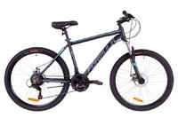 Велосипед Formula THOR 1.0 AM 14G DD рама-18 Al черно-серый с бирюзовым 2019