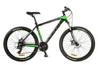 """Велосипед Leon HT-80 AM 14G DD 26"""" 20 черно-зеленый 2017"""