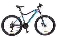 Велосипед Optimabikes ALPINA AM 14G DD Al черно-голубой с розовым 2018
