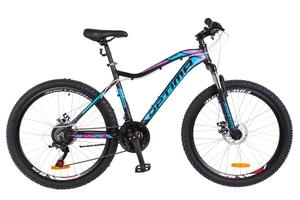 Велосипеды Optimabikes, Велосипед Optimabikes ALPINA AM 14G DD Al черно-голубой с розовым 2018