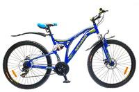 """Велосипеды Optimabikes, Велосипед Optimabikes ECLIPSE AM2 14G DD 26"""" St сине-желтый"""