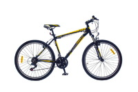 "Велосипед Optimabikes F-1 AM Vbr SKD 26"" Al черно-желтый 20"""