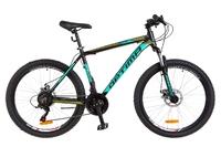 Велосипед Optimabikes MOTION AM 14G DD Al 26 черно-бирюзовый с салатным 2018