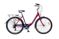 Велосипед Optimabikes VISION PLANETARY HUB Al красно-белый с багажником 2014