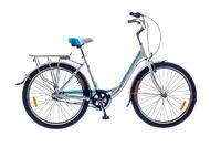Велосипед Optimabikes VISION PLANETARY HUB Al бело-синий с багажником 2015