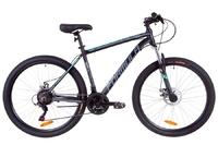 Велосипед Formula THOR 1.0 AM 14G DD рама-19 Al черно-серый с бирюзовым 2019