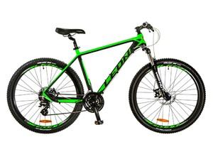 """Велосипеды Leon, Велосипед Leon XC-80 AM 14G DD 27.5"""" 18 черно-зеленый 2017"""