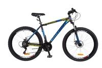 "Велосипед Optimabikes GRAVITY AM 14G DD 19"" Al 27.5 черно-синий с желтым 2018"
