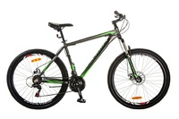 "Велосипед Optimabikes GRAVITY AM 14G DD 19"" Al 27.5 серо-зеленый 2017"