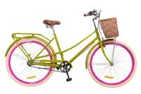 "Велосипед Dorozhnik COMFORT FEMALE PLANETARY HUB 14G 28"" салатовый 2018"