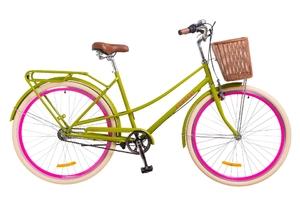 """Велосипеды Дорожник, Велосипед Dorozhnik COMFORT FEMALE PLANETARY HUB 14G 28"""" салатовый 2018"""