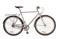 "Велосипед Dorozhnik URBAN 14G 24"" PLANETARY HUB белый с багажником 2017"