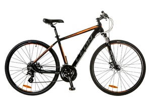Велосипеды Leon, Велосипед Leon HD-80 AM 14G DD 21 Al черно-оранжевый 2017