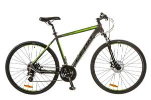 Велосипеды Leon, Велосипед Leon HD-80 AM 14G DD 21 Al серо-зеленый 2017