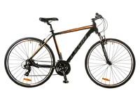 Велосипед Leon HD-85 AM 14G Vbr 21 Al чёрно-оранжевый 2017