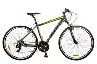 Велосипед Leon HD-85 AM 14G Vbr 21 Al серо-зеленый 2017