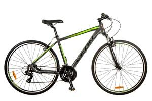 Велосипеды Leon, Велосипед Leon HD-85 AM 14G Vbr 21 Al серо-зеленый 2017