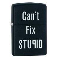 Зажигалка Zippo Cant Fix Stupid