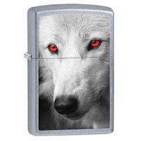 Зажигалка Zippo Wolf With Red Eyes