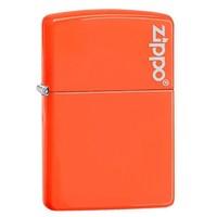 Зажигалка Zippo Reg Neon Orange Lighter logo