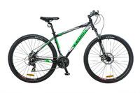 """Велосипед Leon TN-90 AM 14G DD 29"""" черно-зелено-белый 2016"""