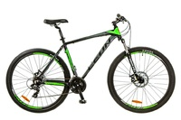 "Велосипед Leon TN-90 AM 14G DD 29"" 21 черно-зеленый 2017"