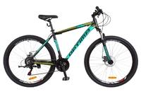 Велосипед Optimabikes MOTION AM 14G DD 21 Al 29 черно-бирюзовый с салатным 2018