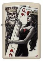 29393 Зажигалка Zippo 216 Skull King Queen Beauty