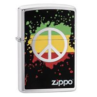 Зажигалка Zippo Peace Splash