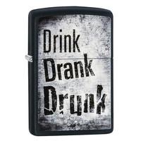 Зажигалка Zippo Drink Drank Drunk Design