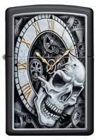 29854 Зажигалка Zippo 218 Skull Clock Design