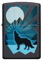 29864 Зажигалка Zippo 218 Wolf And Moon Design