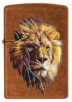 29865 Зажигалка Zippo 21184 Polygonal Lion Design