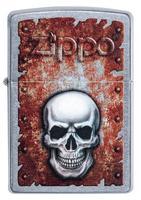 29870 Зажигалка Zippo 207 Rusted Skull Design