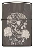 29883 Зажигалка Zippo 150 Fancy Skull Design