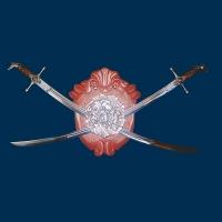 Сувенирное оружие, Две сабли казацкие на щите