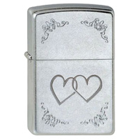 Зажигалка Zippo Reg Satin Chrome Heart To Heart