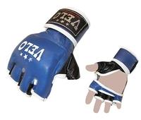 Перчатки для смешанных единоборств MMA Кожа VELO Blue XL