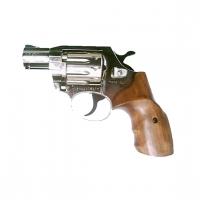 Револьвер флобера Alfa 420 компакт никель, дерево