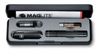 Фонарик Maglite Solitaire с ножом Victorinox 0.6223.3 (черн)